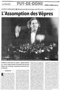 _3 - 2005-01-23 Concert Clermont-Ferrand Article La Montagne