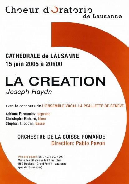 _7 - 2005-06-15 Concert Suisse Lausanne Programme