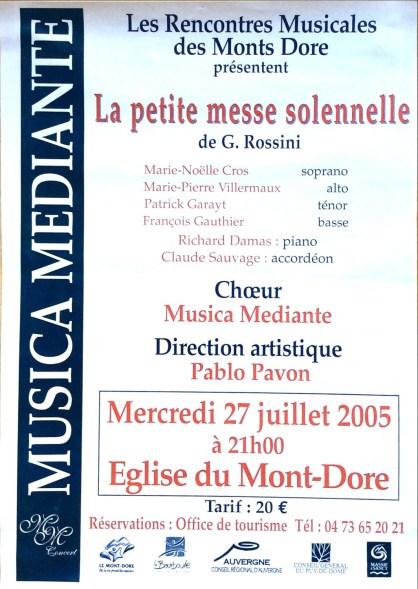 _8 - 2005-07-27 Stage été Concert Le Mont-Dore Affiche couleurs