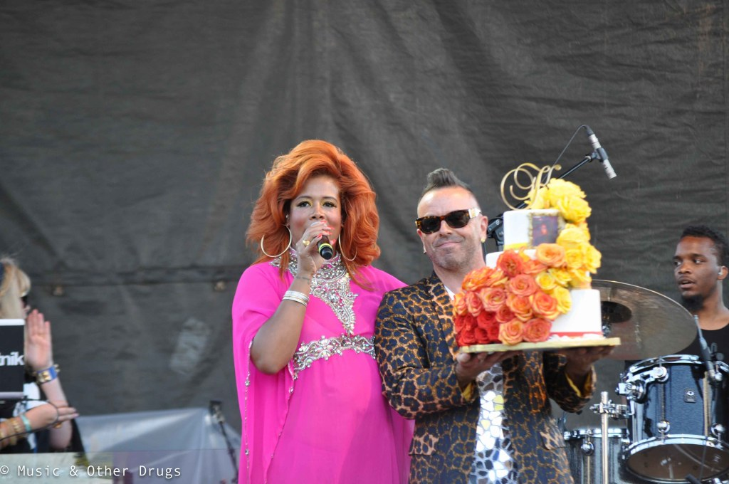 Kelis receives birthday cake | Photograph by Jordan Leigh