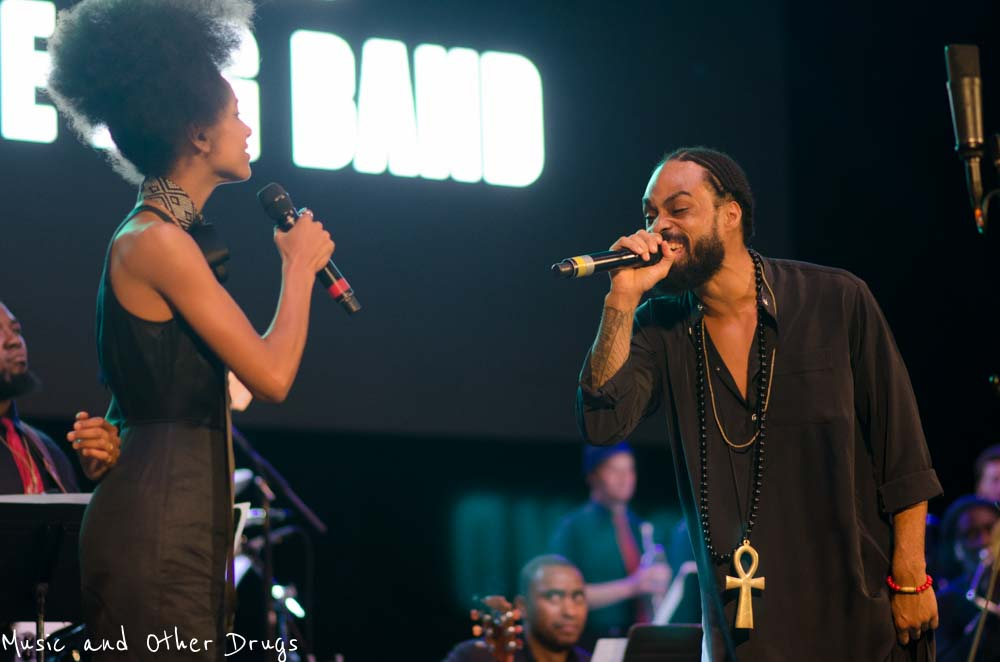"Esperanza Spalding & Bilal sing a duet of Donny Hathaway's ""Someday We'll All Be Free"""