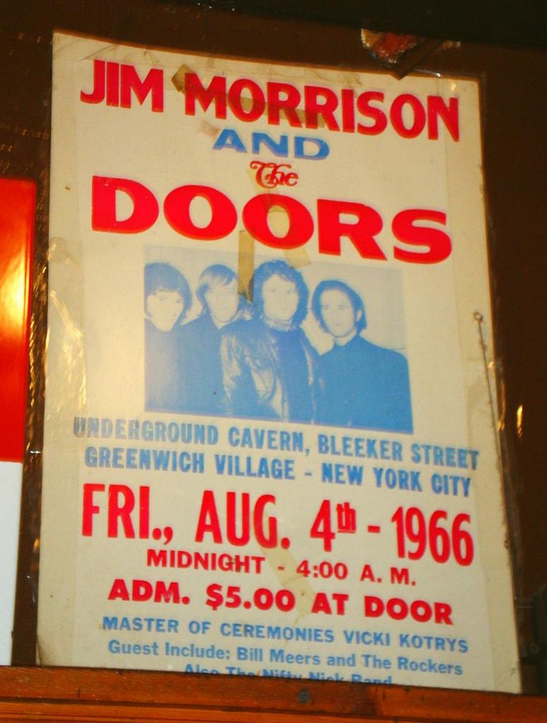 Cartel anunciador de concierto de The Doors