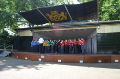 Performing in London's Victoria Embankment as part of the Cultural Olympiad