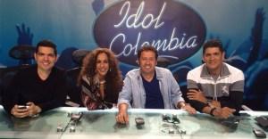 Idol Colombia.Peter Manjarres, Rosario Flores, Alejandro Villalobos y Eddie Herrera