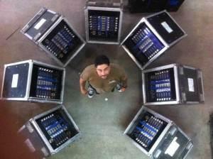 Diego Aballay (BALS) con los amplificadores Powersoft