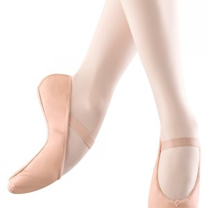 Zapatilla de Ballet para niña modelo ARISE, de piel y suela entera