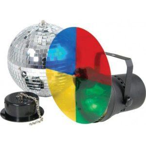 Disco light set 3 con bola de espejos