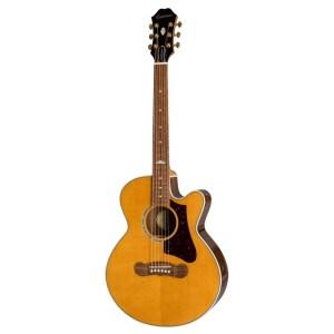 Guitarra acústica epiphone ej200 coupe vintage natural