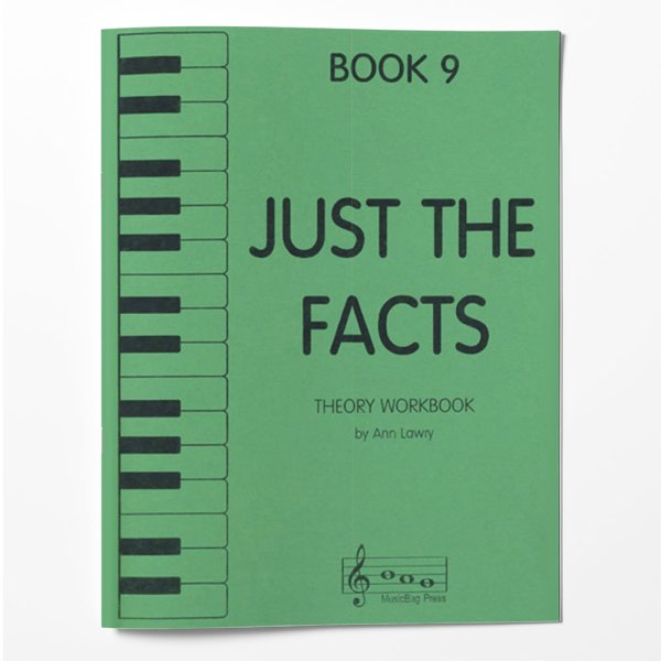 Piano Theory Worksheets Piano Theory Workbook Just The Facts Book 9