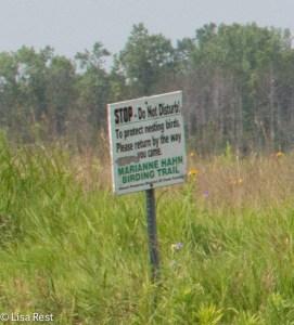 Marianne Hahn Trail Sign 7-6-14-1199