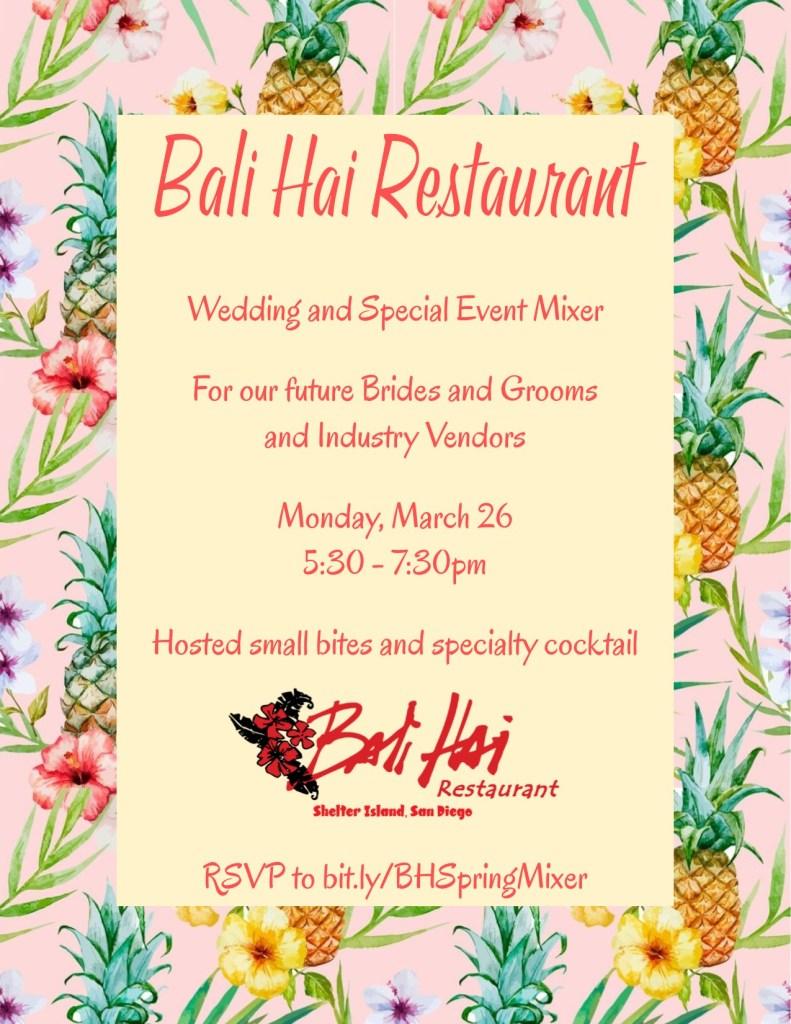 Wedding Plans? Bali Hai\'s Wedding Mixer March 26, 2018 (Video ...