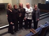 L-r: Donna Vince and Nancy Mayo, collaborative pianists; Martha J. Hart; Christine Brewer; Carole Gaspar