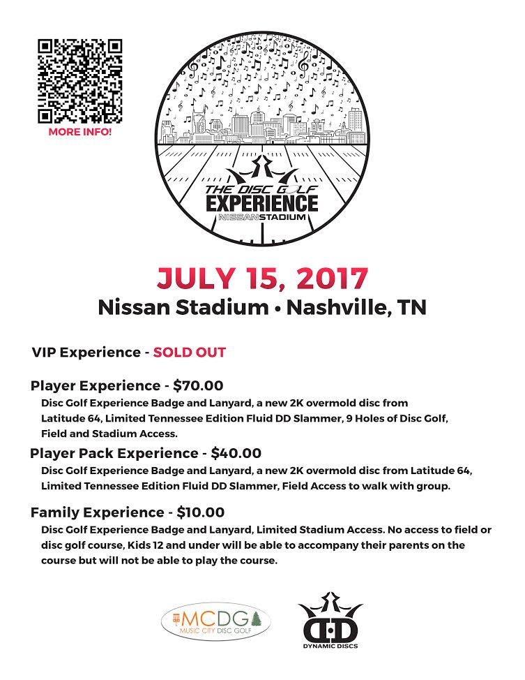 The Disc Golf Experience at Nissan Stadiium