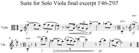 Suite for Solo Viola final excerpt 1'46-2'07