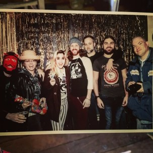 From left to right: Nathan Goff and Kimberly Weiss of Music Connection Dayton; Parisa Samavati, Ryan Palcic, Craig Bishop, Kainan Shank of ThunderTaker; Mike Ritchie of Dayton City Paper