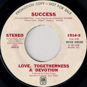 Love, Togetherness & Devotion - Success, A&M Promo