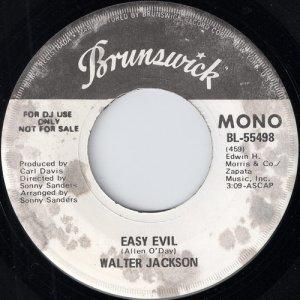 продаю винил Walter Jackson - Easy Evil, Brunswick