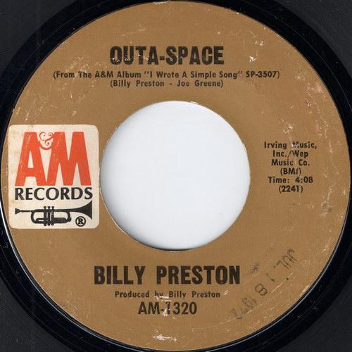"Billy Preston - Outa-Space, A&M 7"""