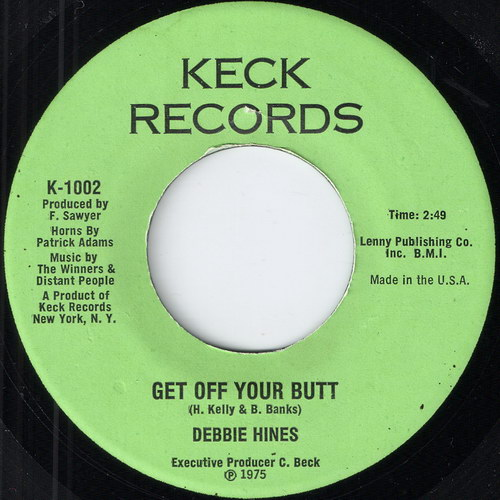 Debbie Hines - Get Off Your Butt, Keck 7""