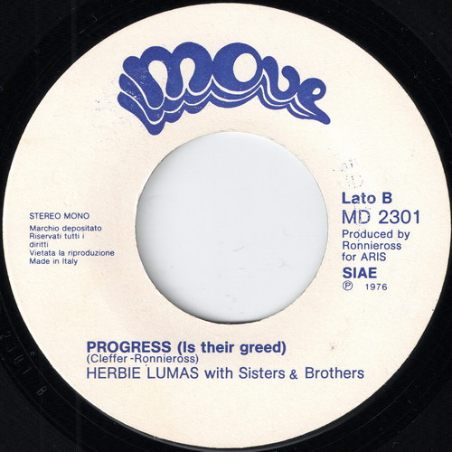 Herbie Lumas with Sisters & Brothers - Progress (Is Their Greed), Move 45