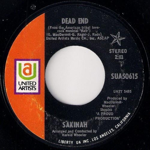 Sakinah - Dead End, United Artists 45