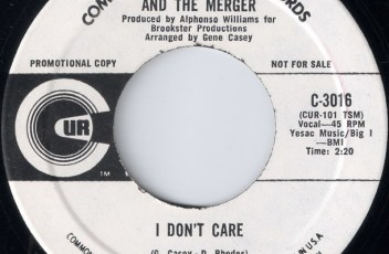 Skeets Williams And The Merger - I Don't Care, Commonwealth United 45