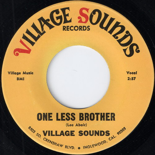 Village Sounds - One Less Brother, Village Sounds Records 45
