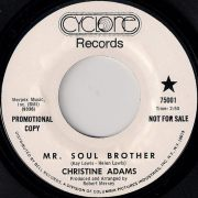 Christine Adams - Mr. Soul Brother, Cyclone Promo 45