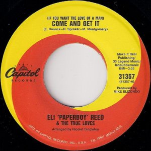 Eli Paperboy Reed - Come And Get It, Capitol 45