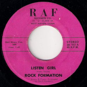 Rock Formation - Listen Girl, RAF records 45