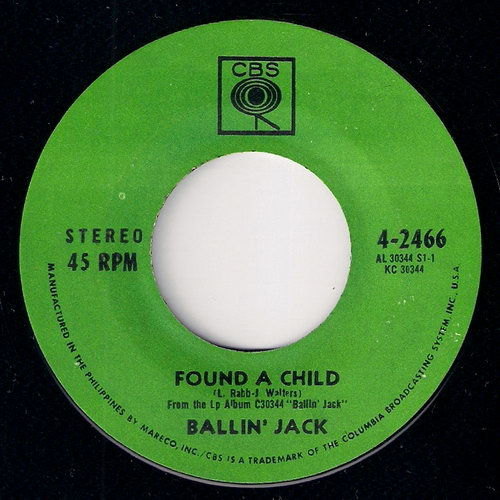 Ballin' Jack - Found A Child, CBS Philippines 7