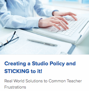 Creating a Studio Policy and STICKING to it!