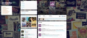 Branded profile on Twitter