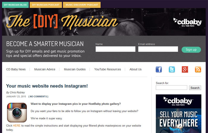 CD Baby DIY Musician Blog