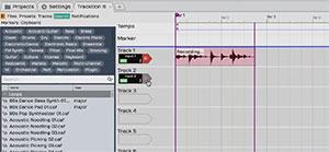 Tracktion digital audio workstation