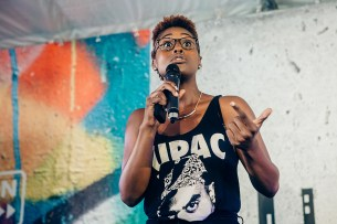 Issa Rae at OZY Fusion Festival 2016 by Coen Rees