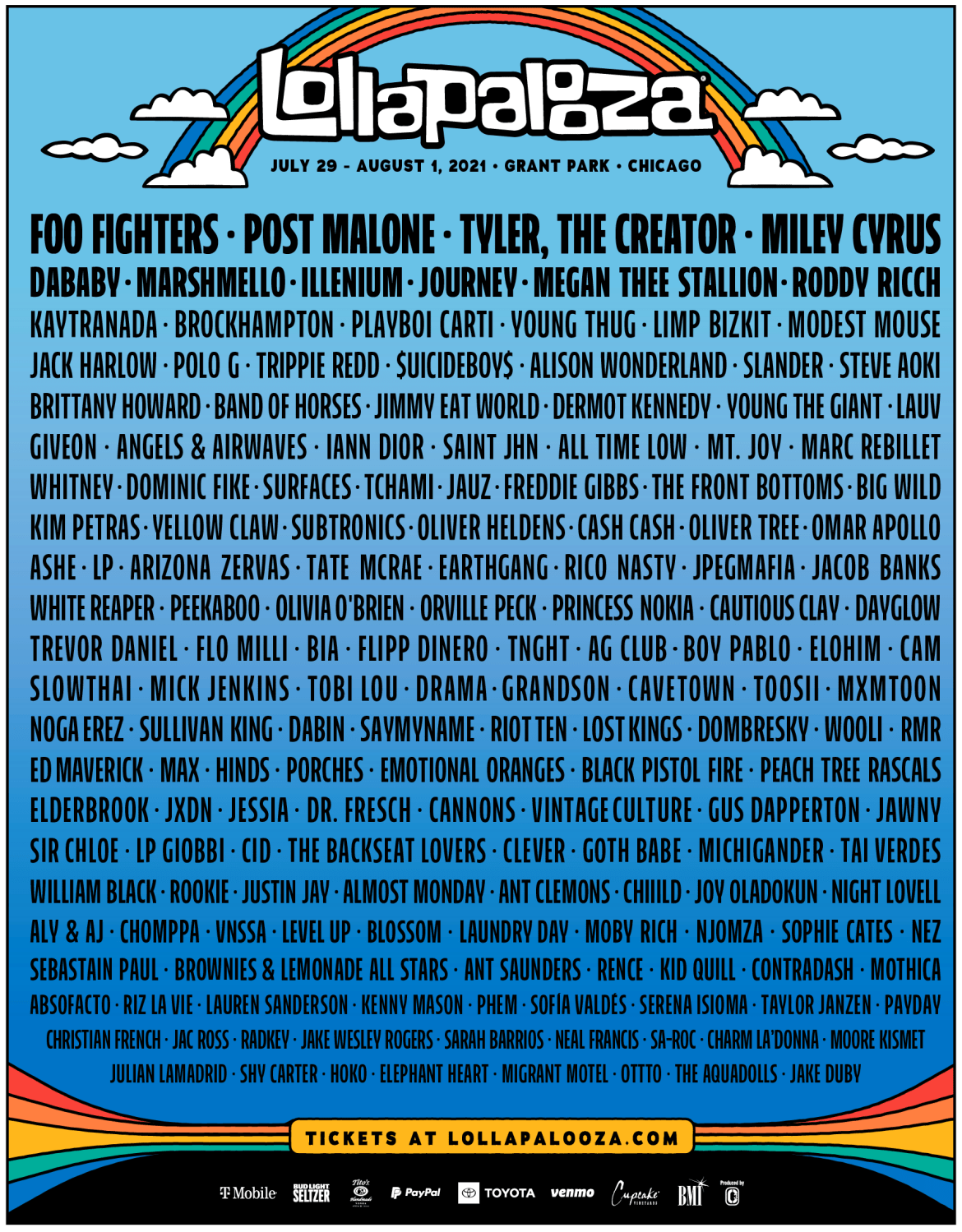 Lollapalooza set to return to Chicago this Summer