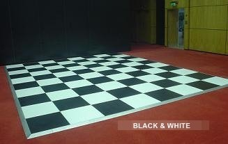 Hire Black and White Dance Floor