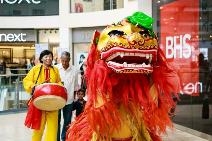 Journey to China - Chinese Lion and Drummer