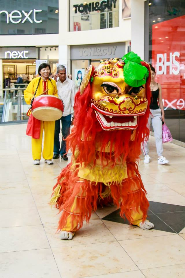 Chinese Lion and Drummer