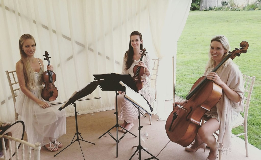 String Quartet Dressed in All White