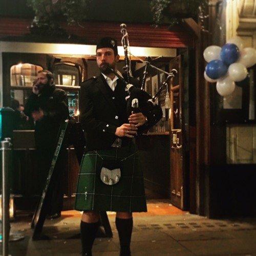 Scottish Bagpiper in London