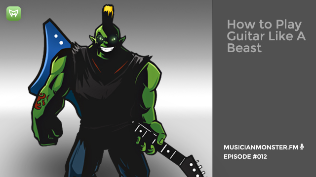 how to play guitar musician monster