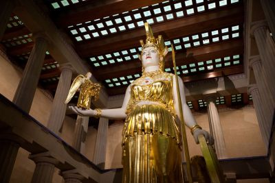 Statue of Athena at the Recreated Parthenon in Nashville