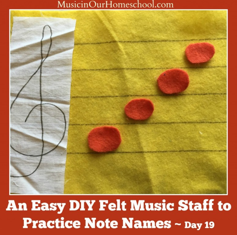 Easy DIY Felt Music Staff