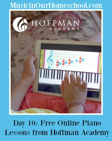 Hoffman Academy online piano lessons ~ Music In Our Homeschool  #pianolessons #hoffmanacademy #musicinourhomeschool #homeschoolmusic