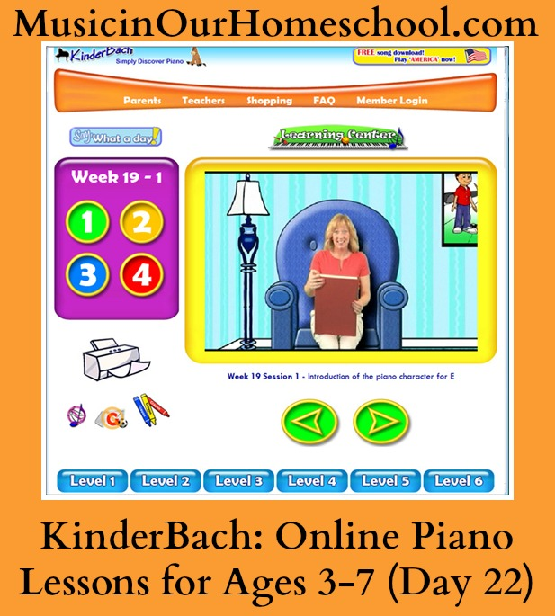 Kinderbach online piano lessons for ages 3-7