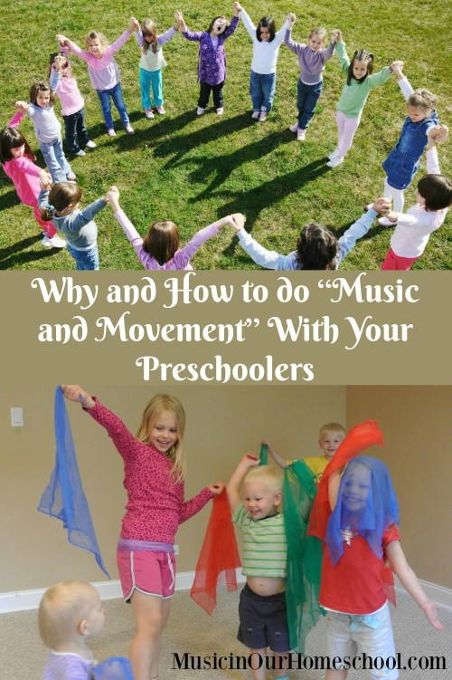 """Why and How to do """"Music and Movement"""" With Your Preschoolers from Music in Our Homeschool #music #homeschoolmusic #musicinourhomeschool"""