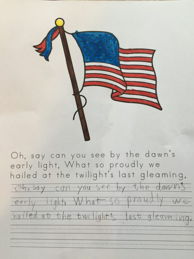 "Here is a free lesson all about the ""Star-Spangled Banner,"" the poem and the song. #musiclessonsforkids #musiclesson #musiceducation #homeschoolmusic #patrioticmusic #musicinourhomeschool"