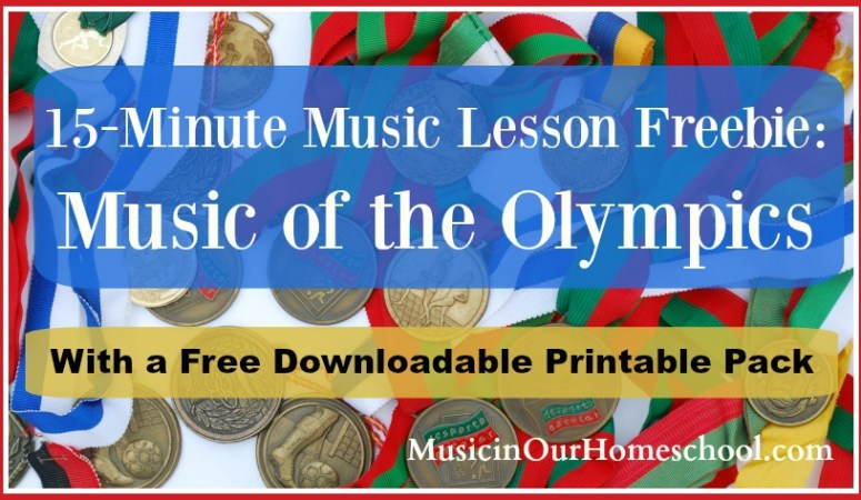 15-Minute Music Lesson Freebie- Music of the Olympics with free printable pack slider
